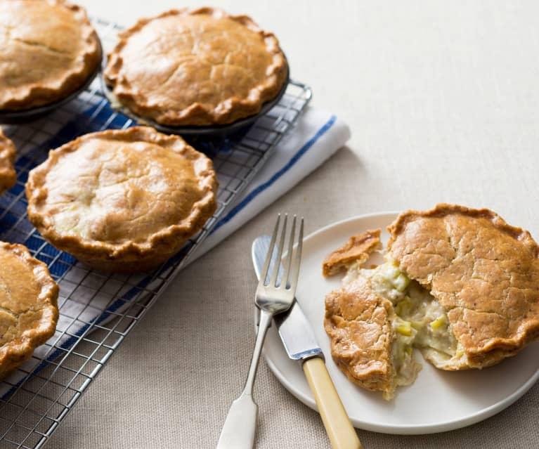 Gluten free chicken and leek pies