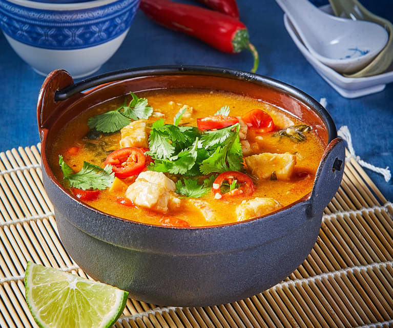Fragrant Coconut Fish Soup with Sweet Potato