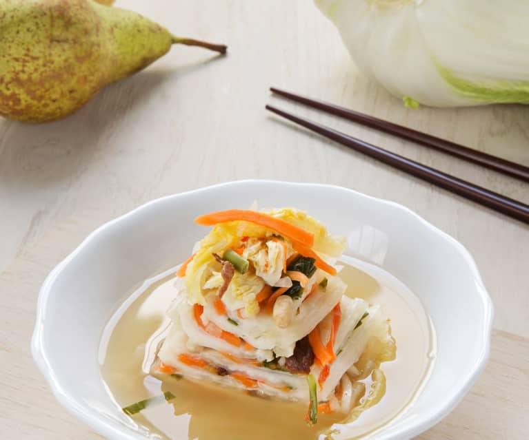 Baek kimchi (Kimchi con fruta o blanco)