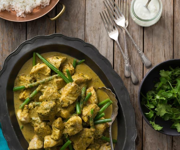 Balti coconut fish curry