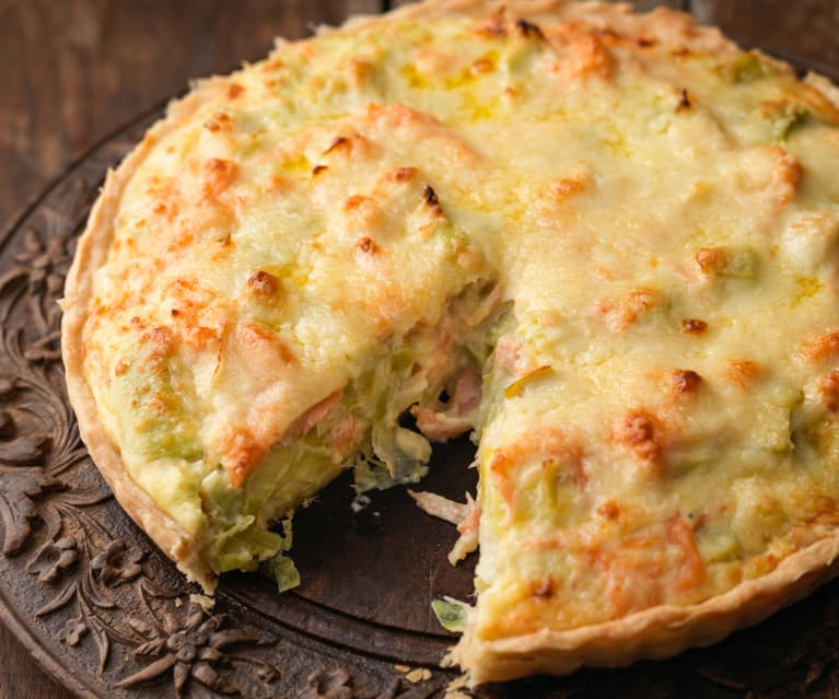 Smoked Salmon and Leek Quiche
