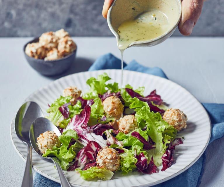 Radicchio-Eichblatt-Salat mit Zitronenvinaigrette