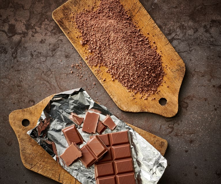 Chocolate con leche rallado fino (polvo de chocolate, 250-300 g)