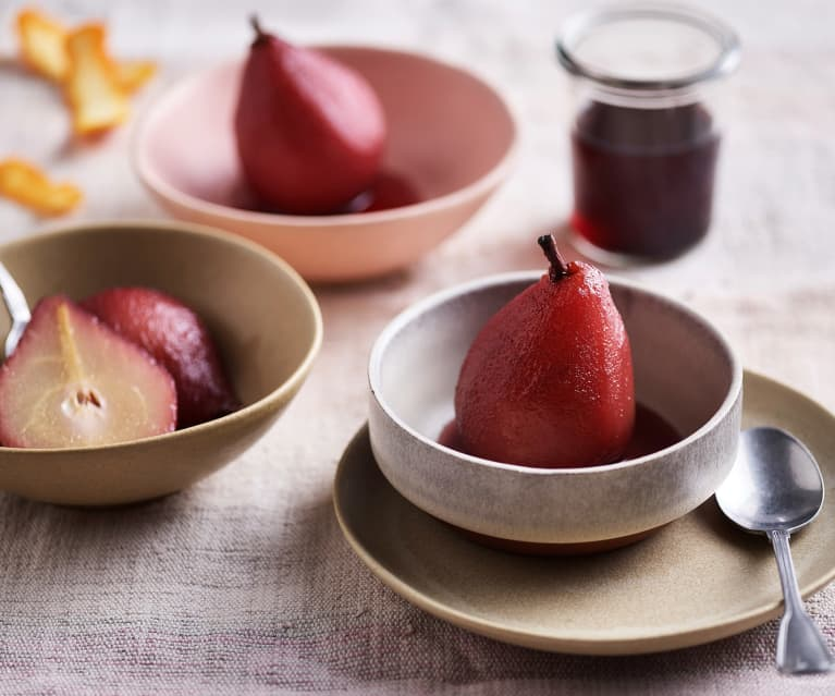 Slow-cooked Pears in Red Wine