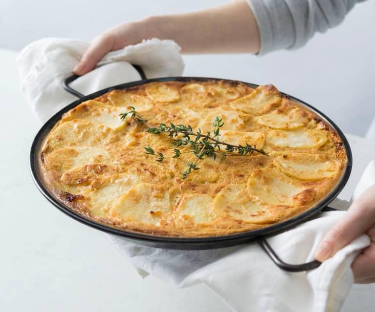 Savoury potato and onion bake