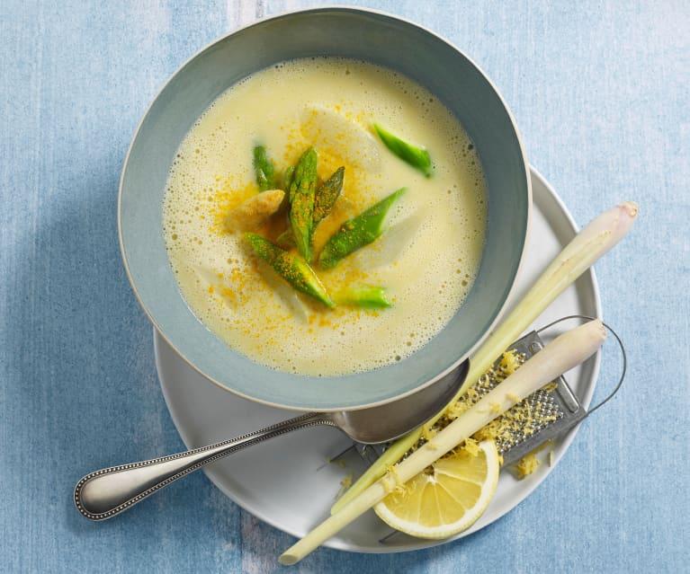 Spargel-Zitronengras-Suppe