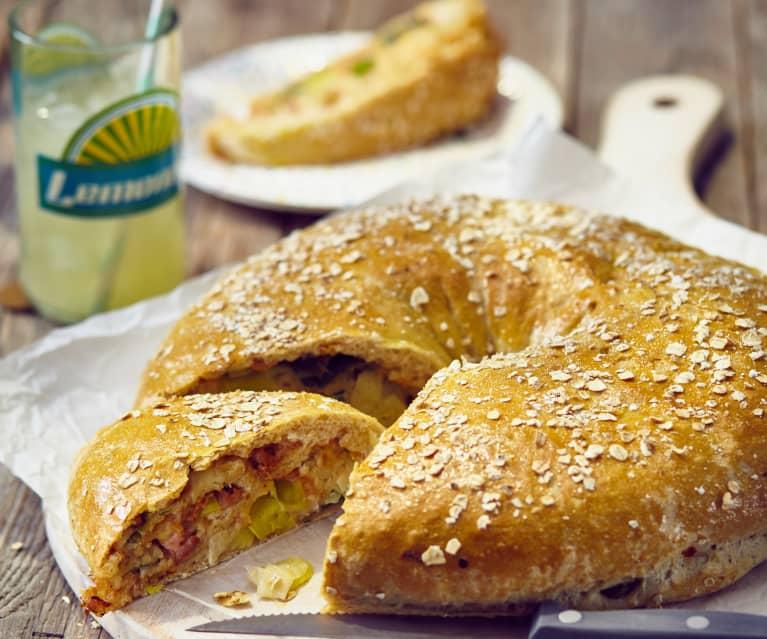 Porree-Käse-Kranz mit Kasseler