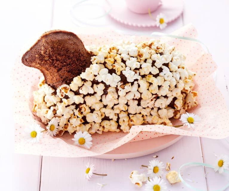 Čokoládový beránek s popcornem