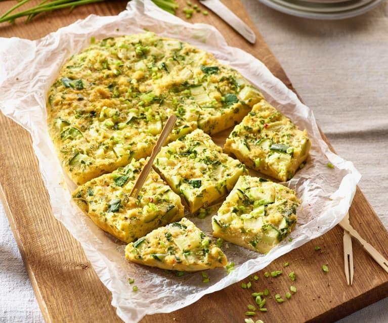 Zucchini-Kräuter-Omelette