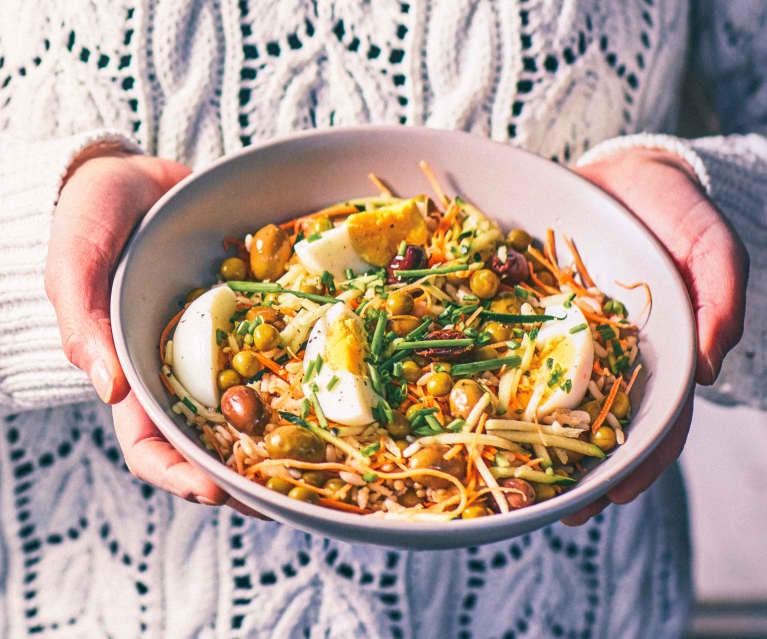 Insalata di riso integrale vegetariana (Cuoci uova)