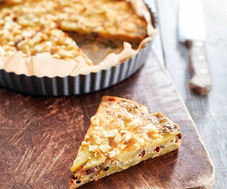 Paprika-Oliven-Tortilla