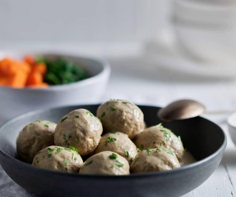 Albóndigas de pavo con salsa cremosa