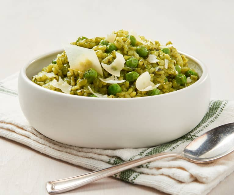 Risotto with Spinach and Peas