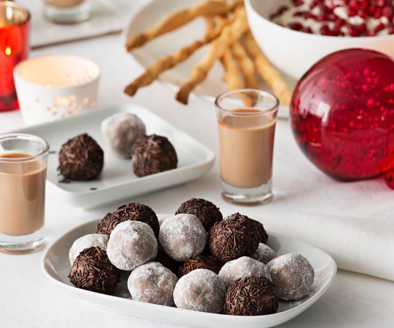 Rocas de chocolate, almendra y avellana