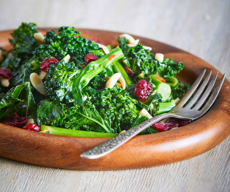Kale, Broccolini and Cranberries with Almonds
