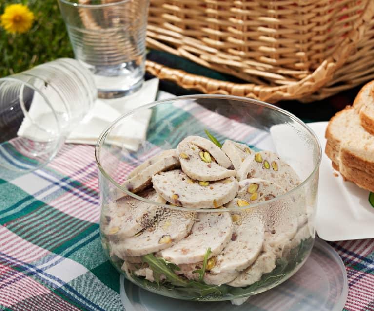 Fiambre de pollo con pistachos