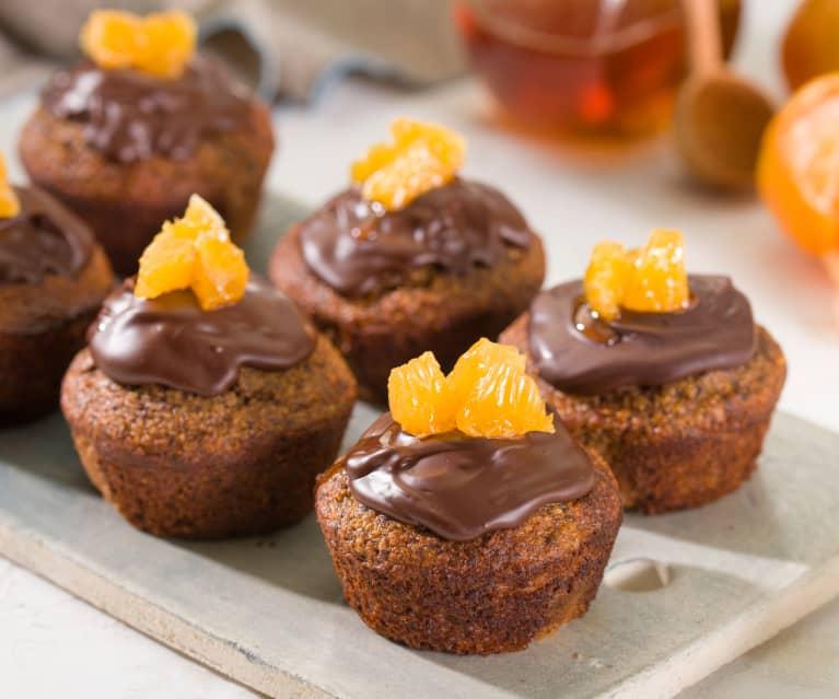 Bizcochitos de avena, chocolate y mandarina