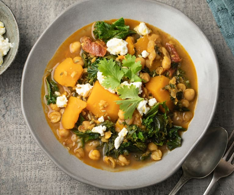 Chickpea, Squash and Kale Stew