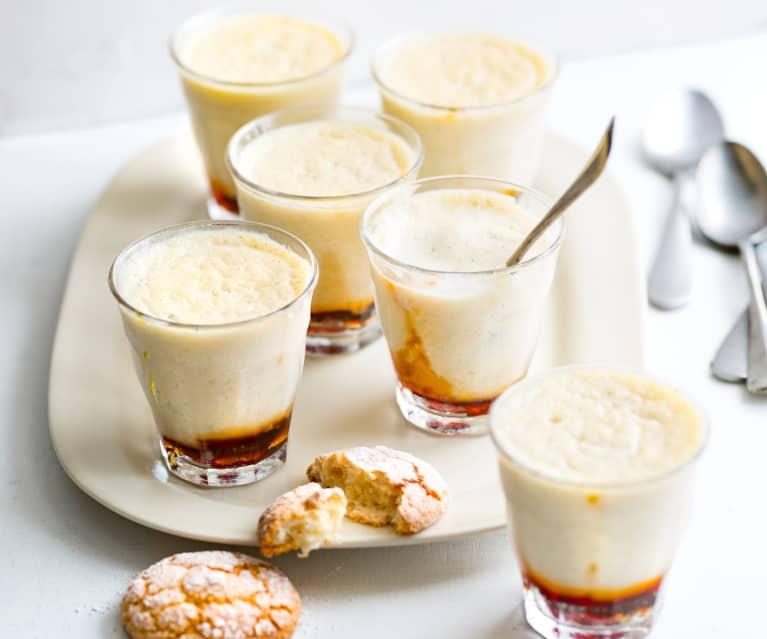 Petits pots de semoule au lait et au caramel