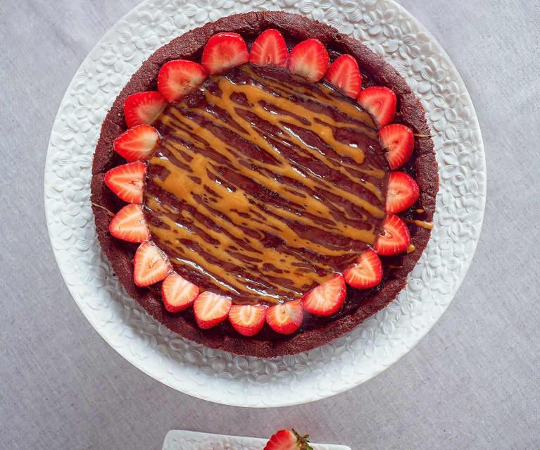 Crostata al cioccolato e salsa al caramello
