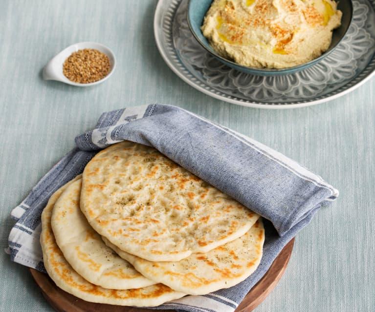 Naan Bread with Hummus (Hestan Cue™)