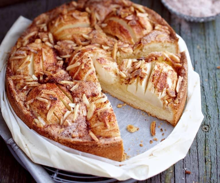 Apfel-Sandkuchen mit Mandeln