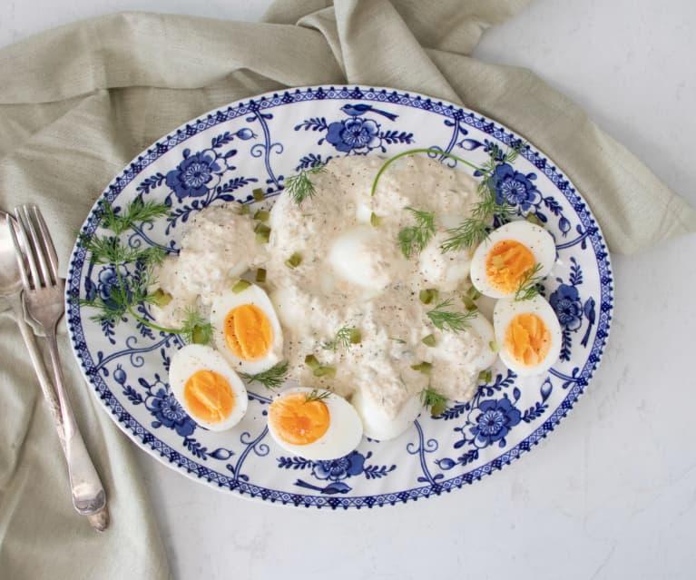 Polish egg salad with tartar sauce