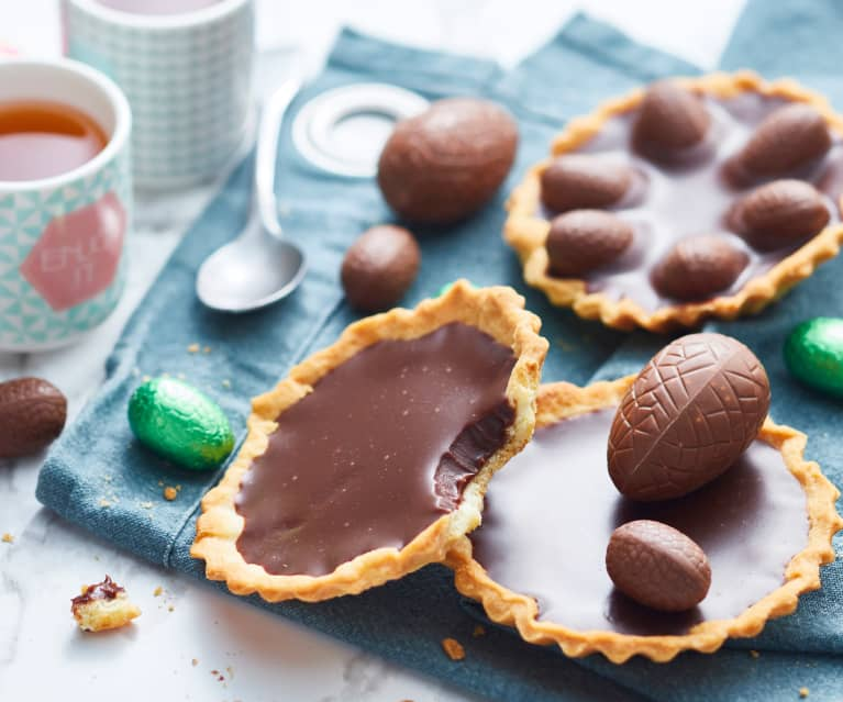 Tartelette au chocolat praliné