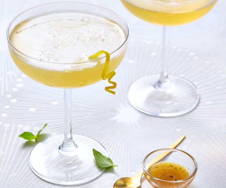 Cocktail citron-gingembre et champagne