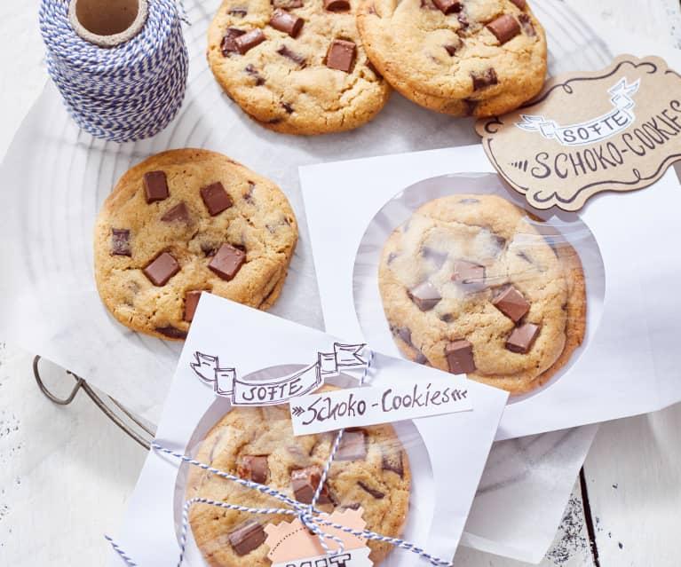 Softe Schoko-Cookies