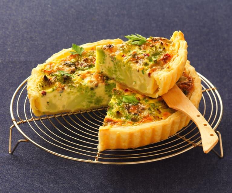 Tarta de romanescu y roquefort (Tarte au chou romanesco et Roquefort)
