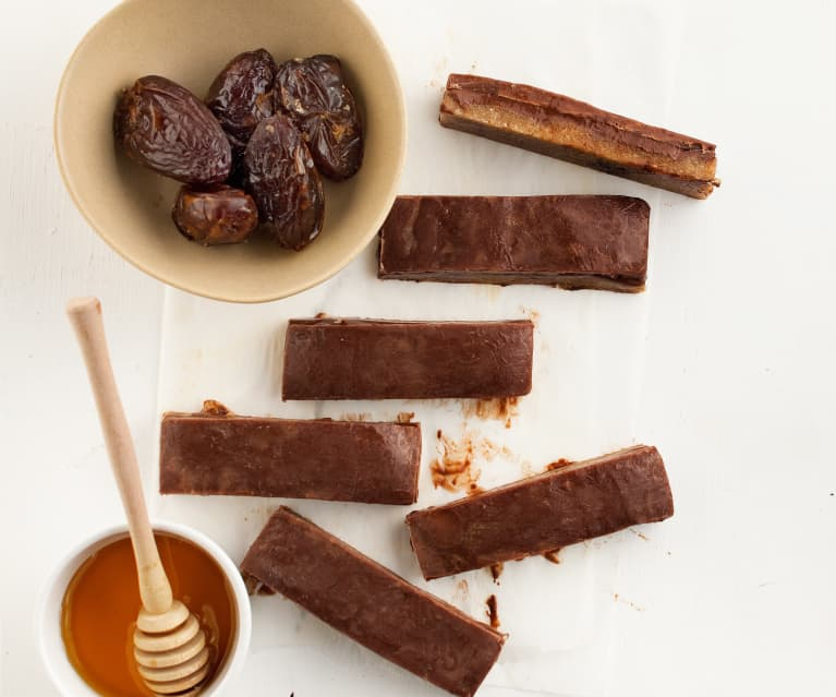 Barras de chocolate e menta