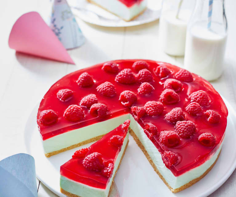 Waldmeister-Himbeer-Torte