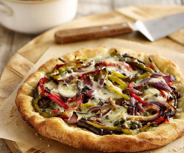 Pizza de verduras asadas
