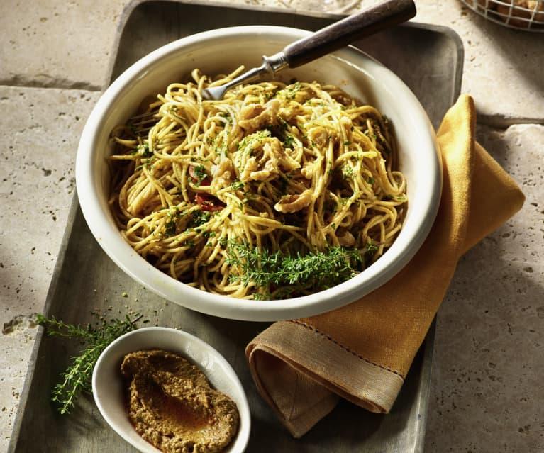 Pesto mit Walnuss und Ricotta