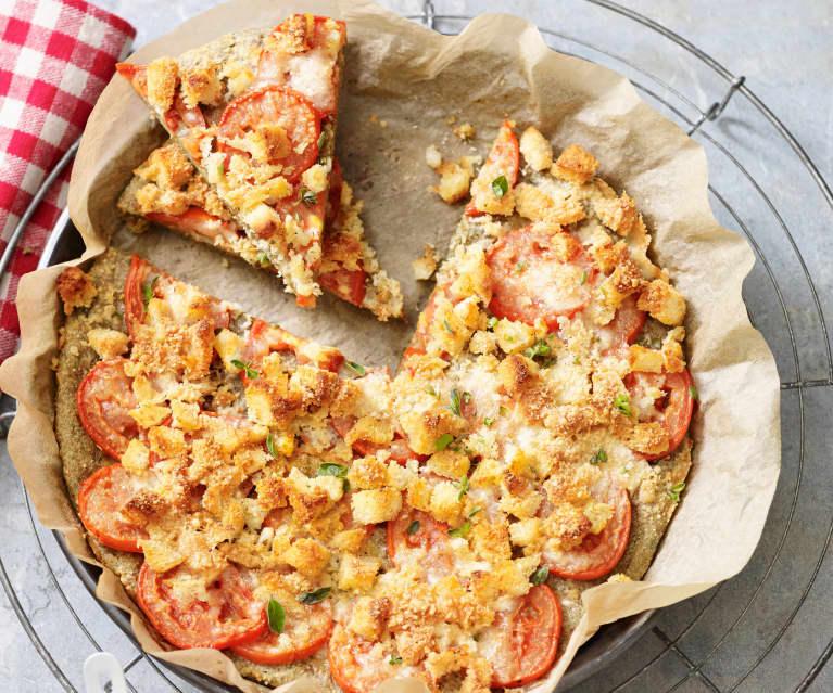 Vollkorn-Fladenbrot mit Tomaten