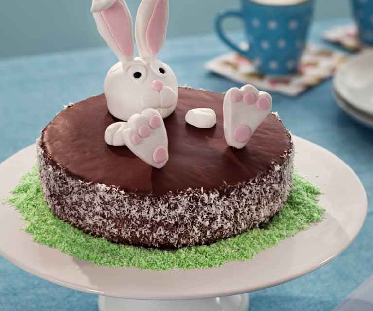 Tarta de Pascua de coco y chocolate
