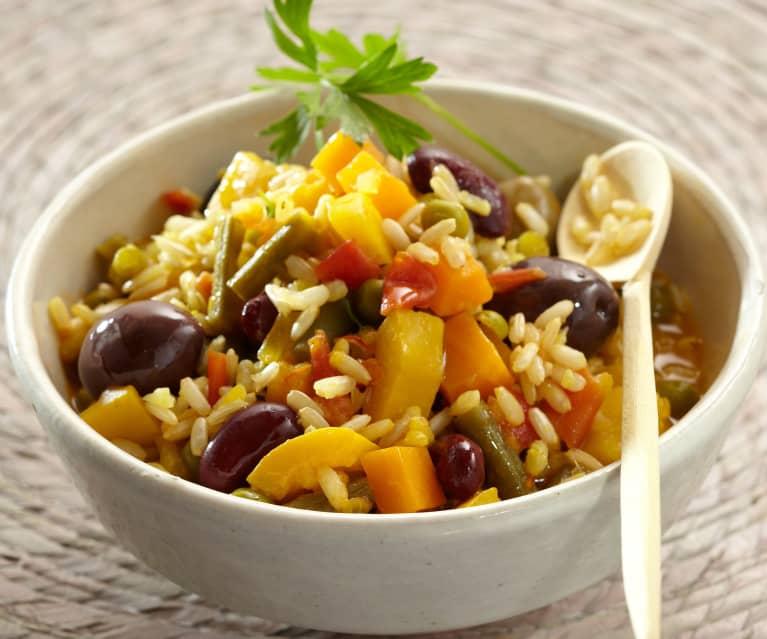 Paella mit Bohnen