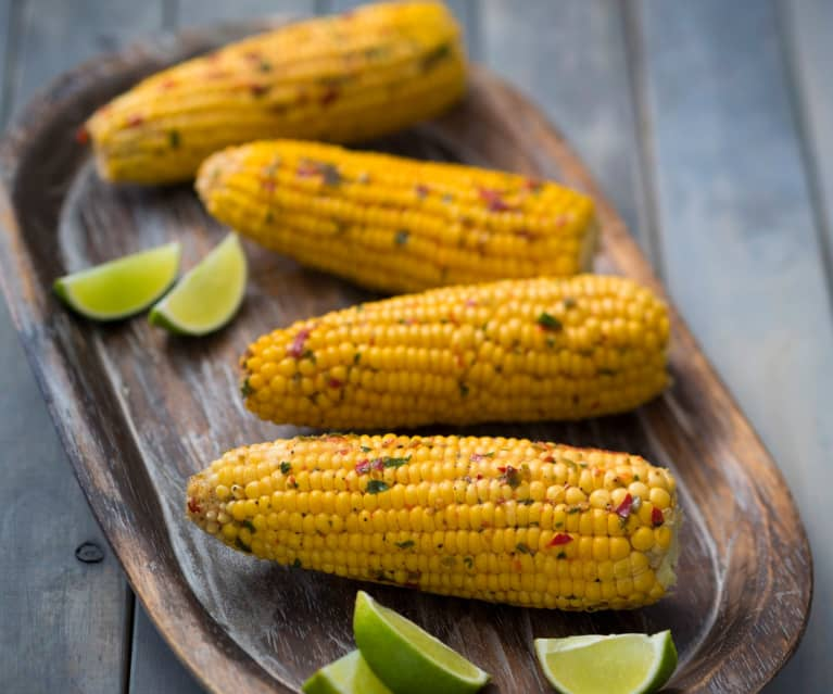 Lime and chilli corn