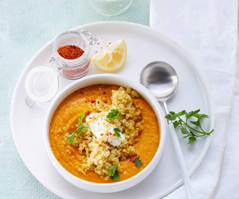 Möhrencreme mit Quinoa