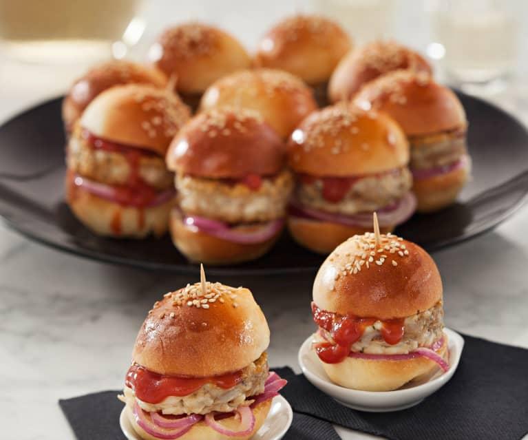 Mini hamburger di tonno