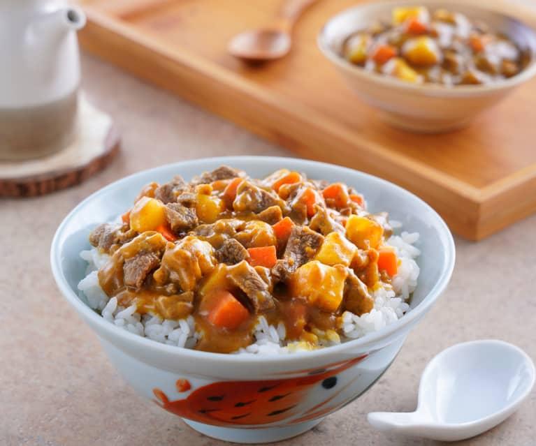 日式咖哩牛肉蓋飯