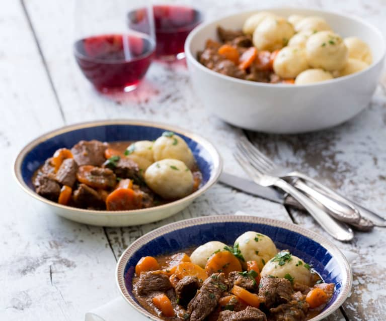 Beef Stew With Buttermilk Dumplings Cookidoo The Official Thermomix Recipe Platform