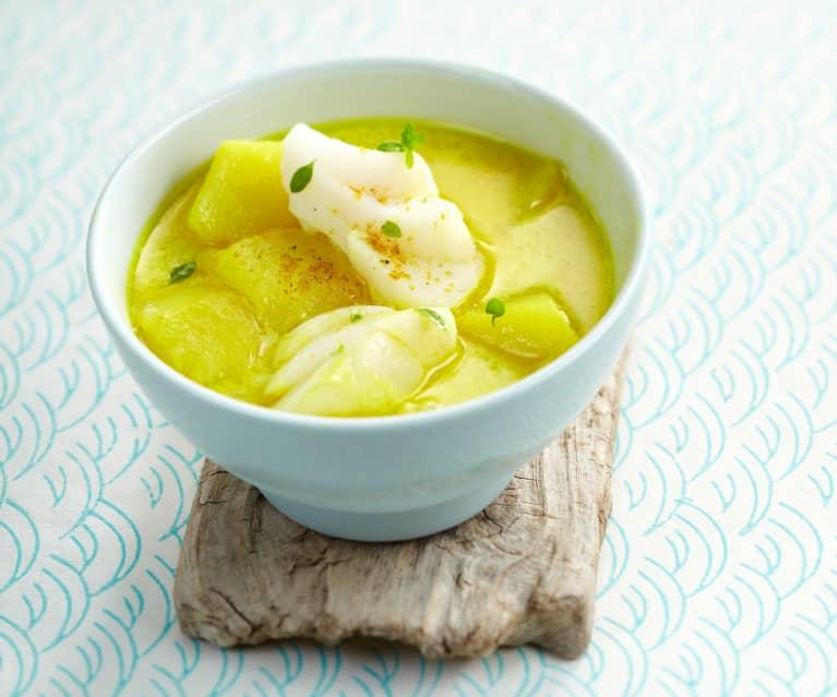 Soupe de poisson au curry