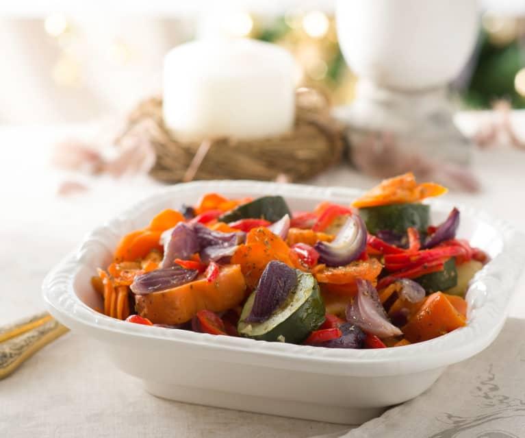 Guarnición de verduras con hierbas provenzales