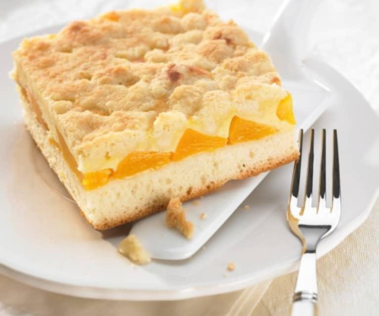 Pfirsich-Streusel-Käsekuchen
