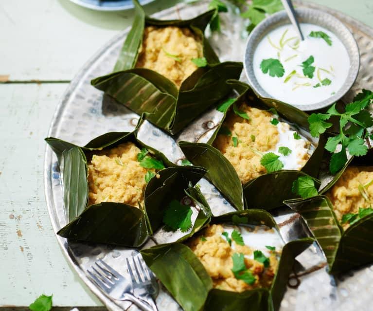 Bouchées de poisson amok, sauce coco
