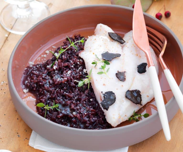 Filet de saint-pierre, riz vénéré et jus truffé