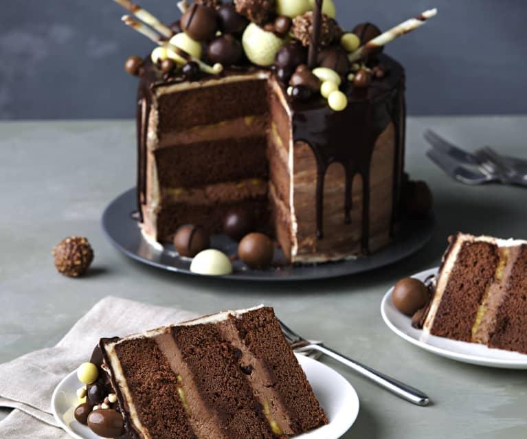 Chocolate dripping cake (Tarta de goteo)