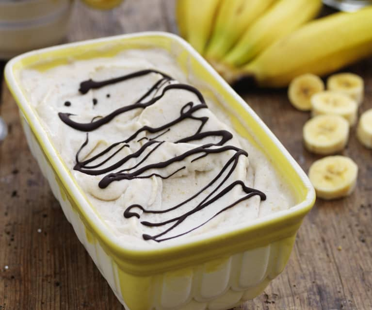 Banana Ice Cream with Peanut Butter and Chocolate